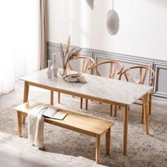 모딜리아니 M76 대리석 원목 6인 식탁세트(의자+벤치)