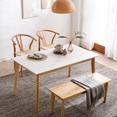 모딜리아니 M76 세라믹 원목 4인 식탁세트(의자+벤치)