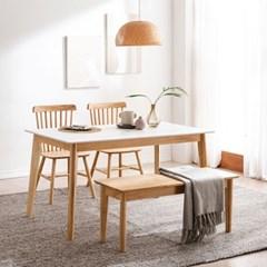 모딜리아니 M88 세라믹 원목 4인 식탁세트(의자+벤치)