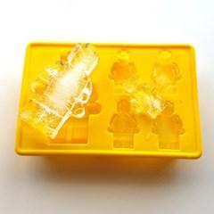 로봇모양 실리콘 5구 몰드 1개(색상랜덤)