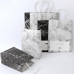 대리석무늬 종이쇼핑백 중형 1개