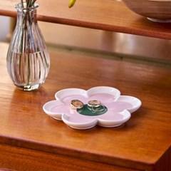 [올라카일리] 주얼리 액세서리 트레이 꽃잎 핑크_(4043647)