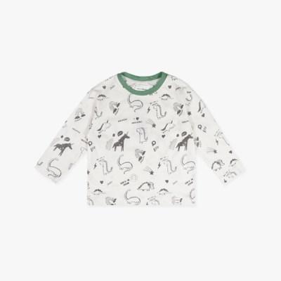 큐티 다이노 배색 티셔츠 IC3CL871B