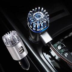OMT 차량용 2in1 공기청정기+2포트 고속 충전기