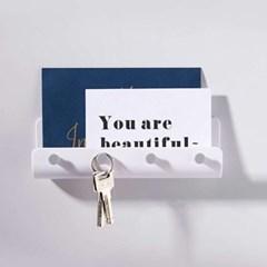 현관 마스크걸이 열쇠걸이 다용도 거치대 2color