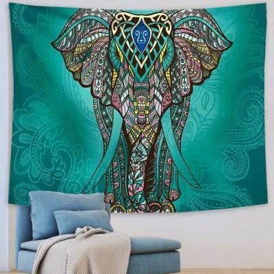 태피스트리 벽장식 패브릭포스터 - 엘리펀트 그린 (150x130cm)