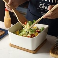 사각 도자기 볼 샐러드 그릇