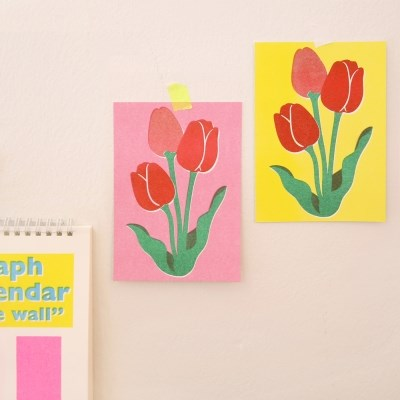 Risograph wall greeting card_2500