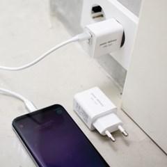 [에너지팩토리] USB PD PPS 초고속충전기 27W (C to C 케이블포함)