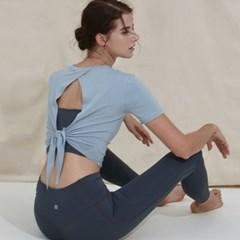 여성 요가복 DEVI-T0043-페일민트 필라테스 커버업 반팔티 티셔츠