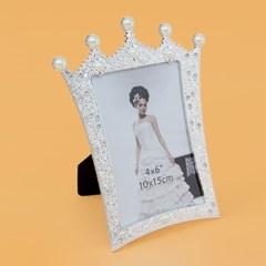 진주 왕관 사진 액자(4x6)/ 탁상용 포토액자
