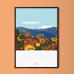 가을단풍 지리산 M 유니크 인테리어 디자인 포스터 여행
