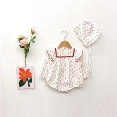 돌핀웨일 밀리레드꽃모자슈트세트(0~24개월)
