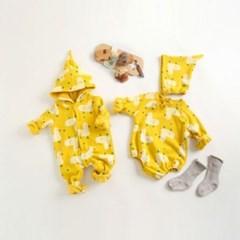 돌핀웨일 옐로꼬꼬기모슈트(0~24개월)