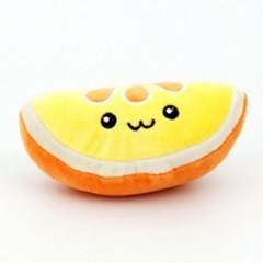 애견 봉제 장난감 오렌지 강아지 펫 흥미유발 놀이