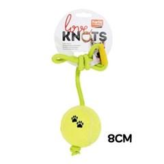 애완동물 애견 장난감 로프 테니쓰공 8cm 강아지 용품
