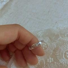 [봄밤달] 하트 각인 반지 (은도금 제품)