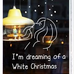 I'm dreaming of a White Christmas 크리스마스 겨울 인테리어스티커