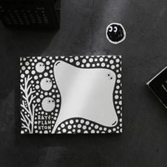 무늬를 양보한 가오리 떡메모지 스티커 세트