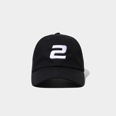 23.65 2LOGO BALL CAP BLACK