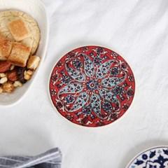 투르크와즈 터키 직수입 도자기 컵받침 2개세트