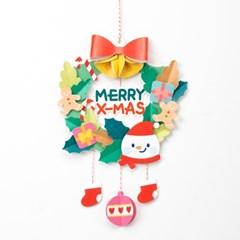 크리스마스만들기 종이리스 겨울 만들기