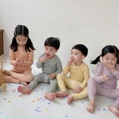 임) 체크모달 아동 실내복-주니어까지