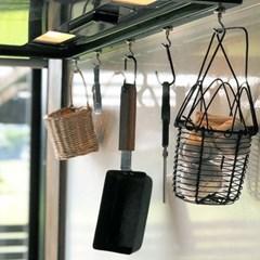 냉장고 현관문 마스크걸이 다용도걸이 튼튼 자석후크고리 5개 1set