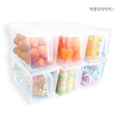 대용량 냉장고 정리함 투명 손잡이 정리함