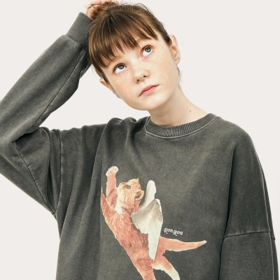 [9/23예약]PIGMENT CATPID SWEATSHIRT CHARCOAL