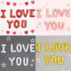[원팩] 은박풍선세트 I LOVE YOU_(12115698)