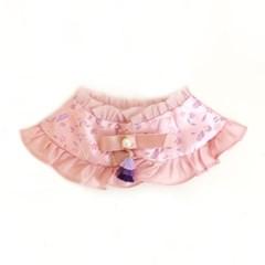 Hanbok Silk Frill Cape - Pink
