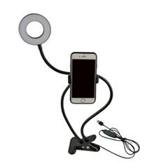 올인원 심플 링라이트 폴딩 포터블 휴대폰 거치대 조명