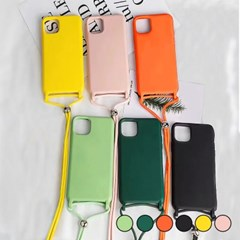 아이폰6 캔디 컬러 스트랩 커버 젤리 케이스 P035_(3258779)