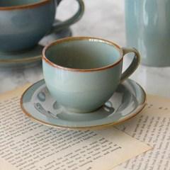 포홈 엔틱 도자기 에스프레소 커피잔 세트 180ml_(2215166)