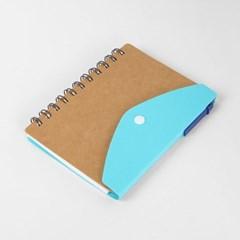 아트스케치 단추 볼펜수첩(블루)