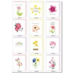 홀마크 미니카드 꽃 12종세트