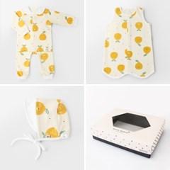 [선물하기][메르베] 라봉이 아기 출산선물세트(내의+수면조끼+모자)
