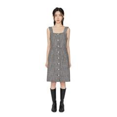 넬리 트위드 미디 드레스