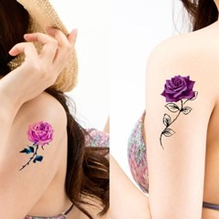 5p 패션 로즈 타투 스티커