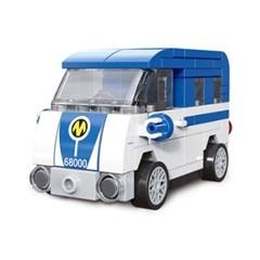미니 풀백 버스타입B-3 마이크로버스 블럭