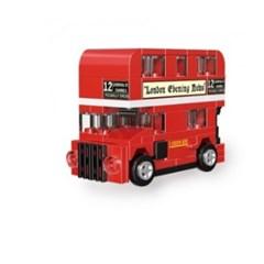 [풀백블럭] 미니 풀백 버스타입C-4 런던 2층 버스
