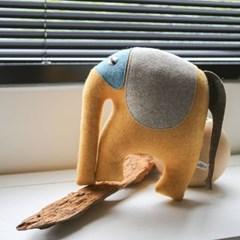 DEEP, 인도 코끼리 멸종위기동물 홈데코 인형 25x27cm_(1878885)