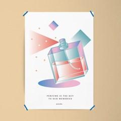 향수 기억의 열쇠 M 유니크 인테리어 디자인 포스터