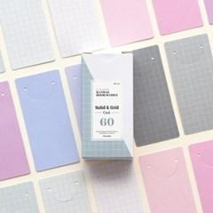 반달 북마크 - 18 솔리드&그리드 Cool 60매 세트
