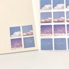 [구름상점] 하루 사각형스티커