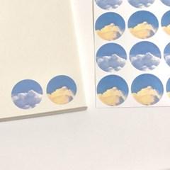 [구름상점] 나의 구름 원형스티커