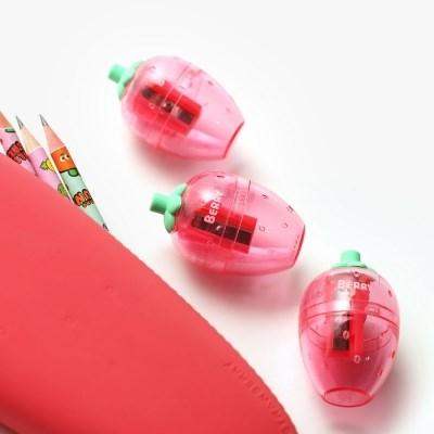 핑크풋 딸기 연필깍이