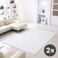 2개세트 리빙코디 PVC 소프트 놀이방매트 200x140x1.4cm