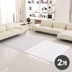 2개세트 리빙코디 PVC 소프트 놀이방매트 230x140x1.2cm